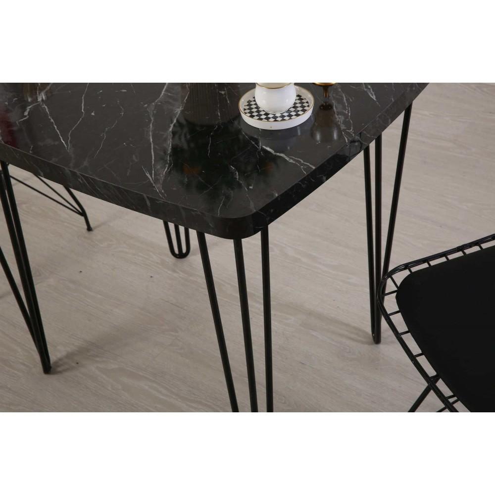 Yelken bendir 80-70 firkete masa tel sandalye takımı