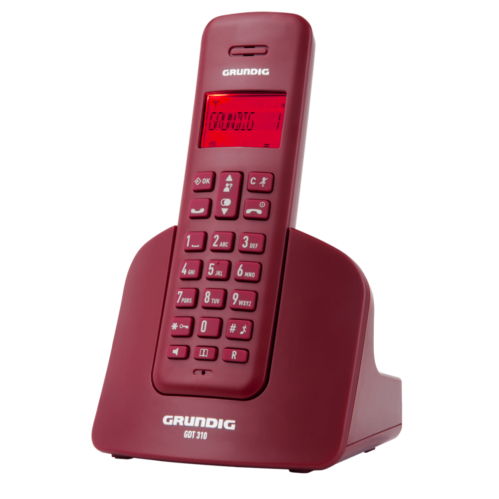Grundig GDT 310 Kırmızı Telsiz Telefon