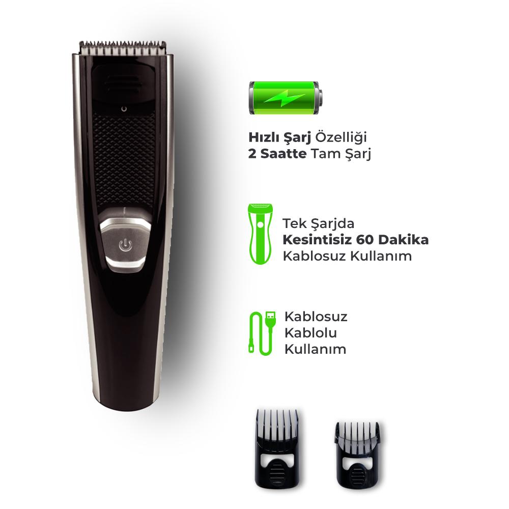 Goldmaster Fiyaka Şarjlı Saç Kesme Makinesi