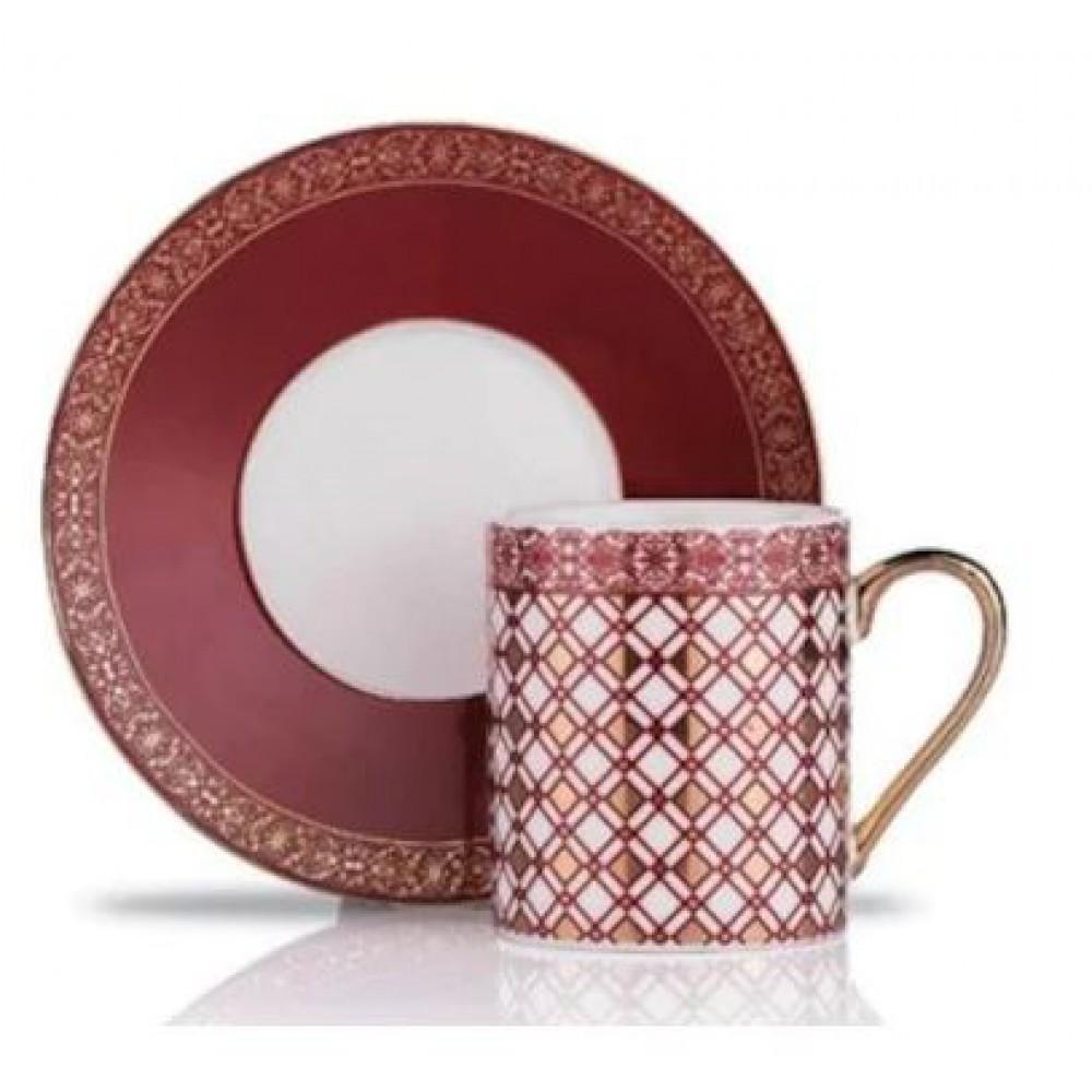 Schafer Stilvoll Kahve Fincan Tak.6'lı-12 Parça Bordo