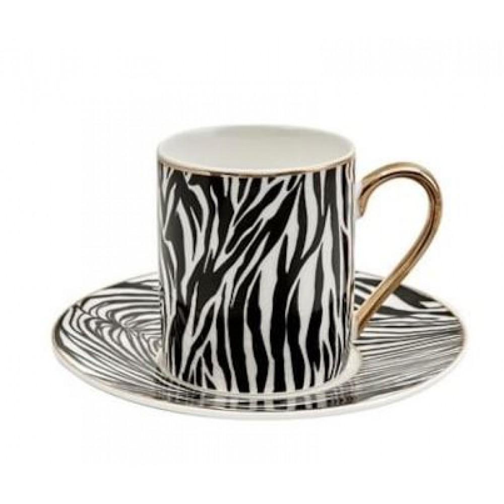 Karaca Zebra 4 Kişilik Kahve Fincanı