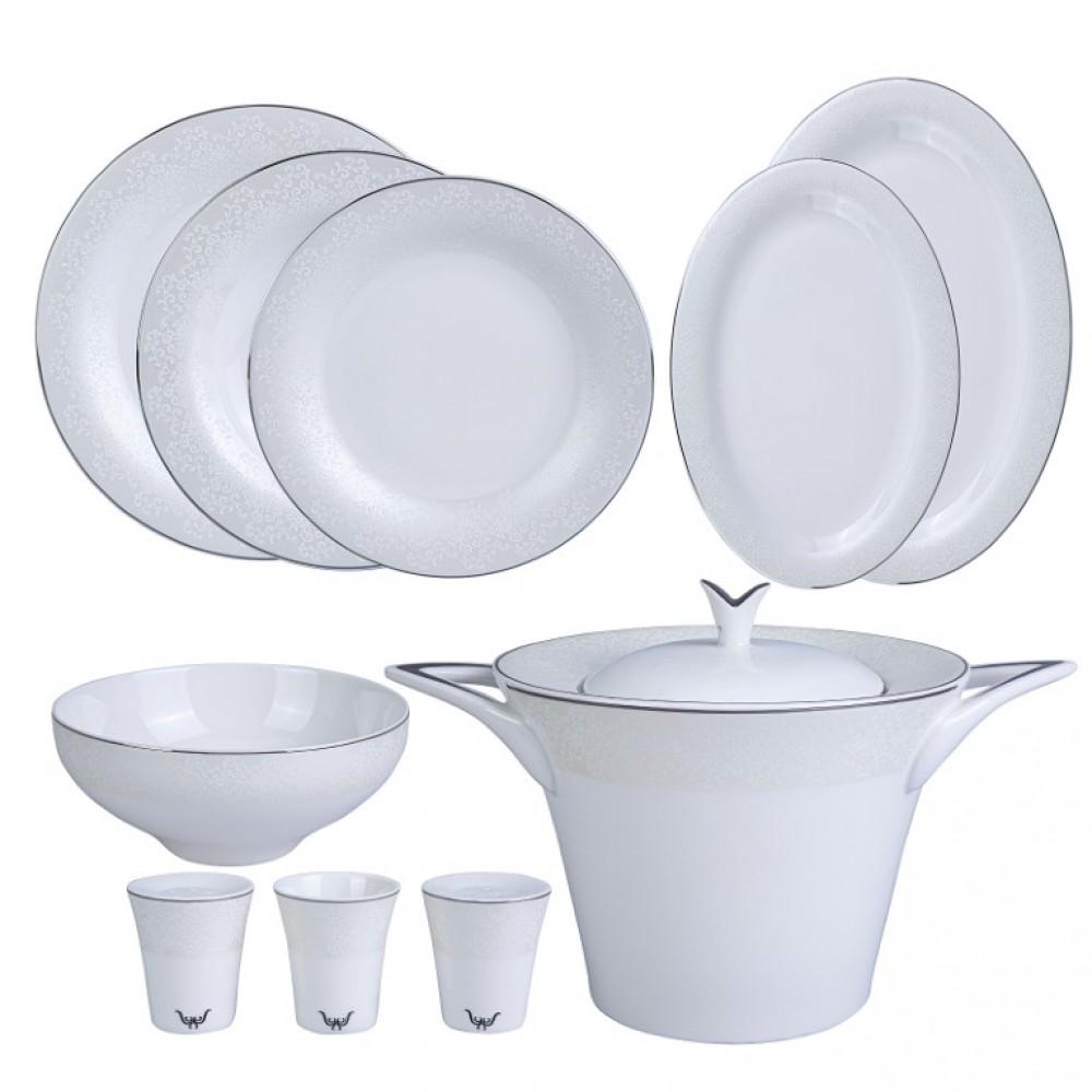Karaca Silvermask Platin 60 Parça Yemek Takımı