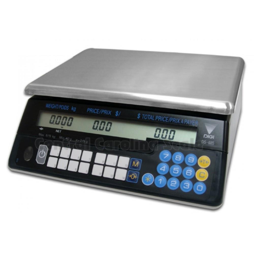 Digi DS-685 BR Boyunsuz 30 Kg. Fiyat Hesaplayan Pazarcı Terazi