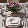 Karaca Fine Pearl Helen 62 Parça 12 Kişilik İnci Yemek Takımı Kare
